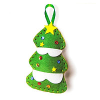Набор для создания подвесной ёлочной игрушки из фетра «Ёлочка со звездой»