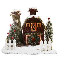 Набор для творчества - создай новогоднее украшение «Домик в зимнем лесу»