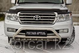 Накладки на передние фары (реснички) Toyota LC 200 2007-2011, фото 2