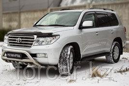 Накладки на передние фары (реснички) Toyota LC 200 2007-2011, фото 3
