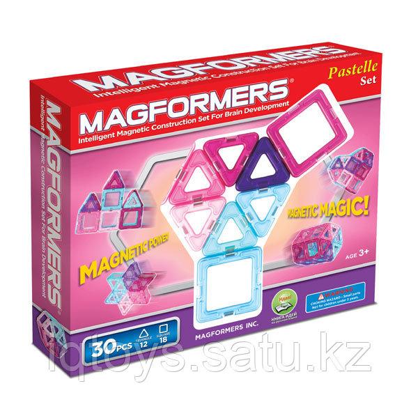 Магнитный конструктор Magformers Pastelle 30 (30 деталей) - фото 1