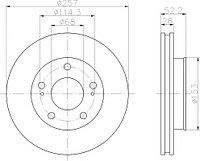 Тормозные диски Nissan Serena  (92-01, передние, Optimal, D257)