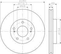 Тормозные диски  Nissan Maxima  A32 (95-00, передние, Veka, tn26)