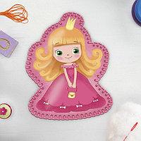 Игрушка из фетра «Маленькая принцесса», с термонаклейкой и перфорацией