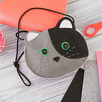 Набор для создания сумки из фетра «Кошечка»