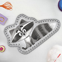 Игрушка из фетра «Пушистый енот», с термонаклейкой и перфорацией