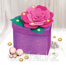 Набор для создания шкатулки из фетра «Роза», с объемными элементами