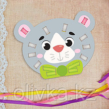 Вышивка лентами «Серый мишка» для самых маленьких. Набор для творчества