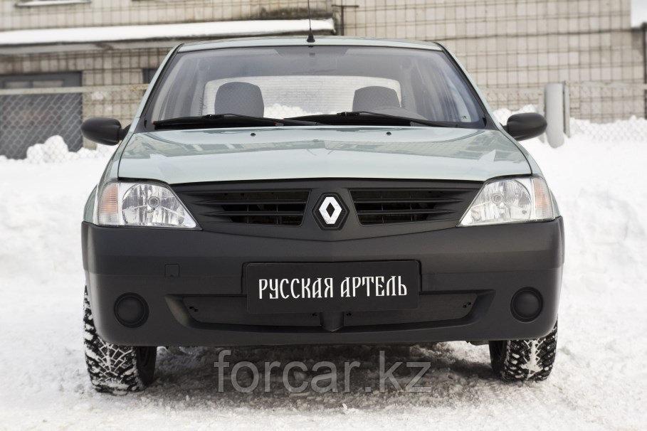 Зимняя заглушка решетки переднего бампера Renault Logan 2004-2010