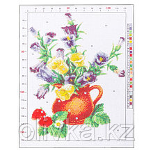 Канва для вышивания с рисунком «Букет лета», 28 х 37 см