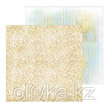 Фотофон двусторонний «Блестящее золото», 45 × 45 см, переплётный картон, 980 г/м