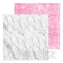 Фотофон двусторонний «Мрамор белый‒мрамор розовый», 45 × 45 см, переплётный картон, 980 г/м