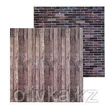 Фотофон двусторонний «Кирпич‒доски», 45 × 45 см, переплётный картон, 980 г/м
