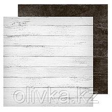 Фотофон двусторонний «Доски белые‒доски черные», 45 × 45 см, переплётный картон, 980 г/м