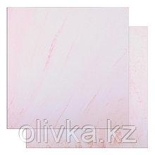 "Фотофон двусторонний ""Разводы - Розовая штукатурка"" 45 х 45 см, переплётный картон, 980 г/м"