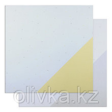 "Фотофон двусторонний ""Жёлтый и серый треугольник"" 45 х 45 см, переплётный картон, 980 г/м"