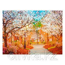 """Фотофон винил """"Цветущие яблони"""" 150х210 см"""