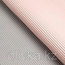 Бумага гофрированная, розово-серая, 50 см х 66 см