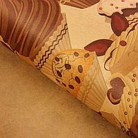 """Набор бумаги упаковочной крафт """"Пироженки"""", 50 х 70 см, 10 листов"""