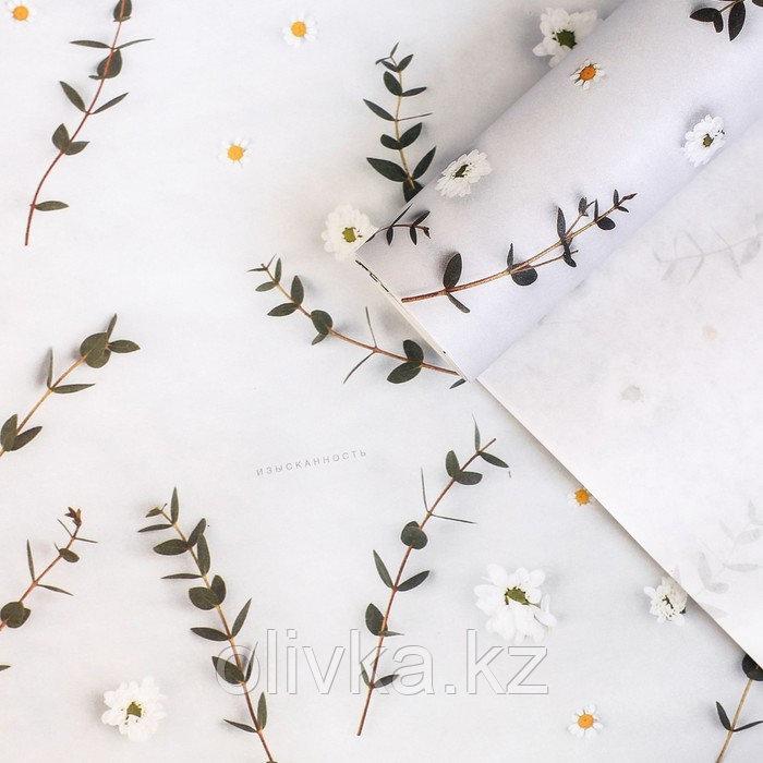 Бумага упаковочная крафтовая «Цветы», 70 × 100 см