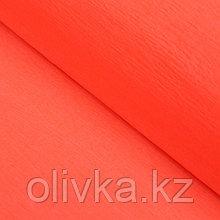 Бумага креп «Оранжевый» неон, 0,5 х 2 м