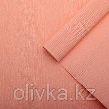 Бумага креп, простой, цвет персиковый, 0,5 х 2,5 м