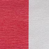 Бумага креп, с белым верхом, цвет красный, 0,5 х 2,5 м, фото 3