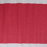 Бумага креп, с белым верхом, цвет красный, 0,5 х 2,5 м, фото 4