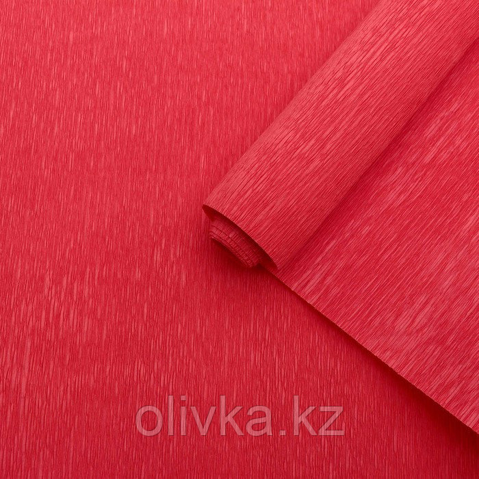 Бумага гофрированная красная, 0,5 х 2,5 м