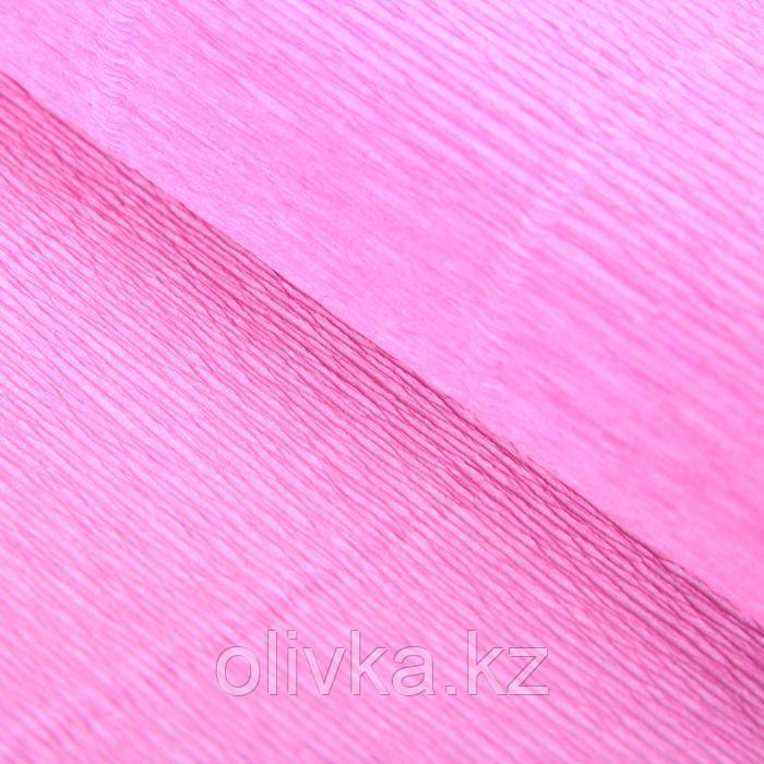 """Бумага гофрированная, 554 """"Детский розовый"""", 0,5 х 2,5 м"""