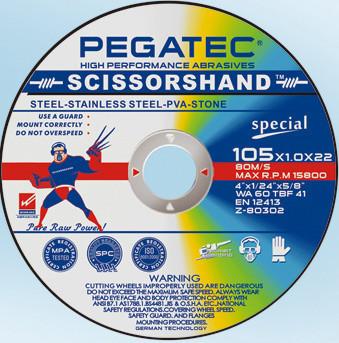 Диск Pegatec отрезной универсальный 125х1,2х22