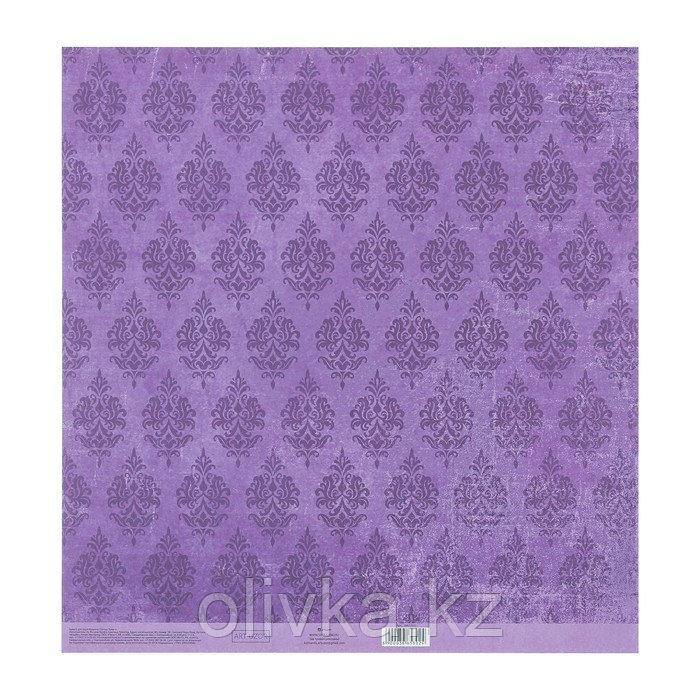 Бумага для скрапбукинга с клеевым слоем «Узор», 30,5 × 32 см, 250 г/м