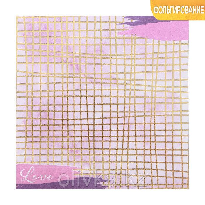 Бумага для скрапбукинга с фольгированием «Время мечтать», 15.5 × 15.5 см, 250 г/м
