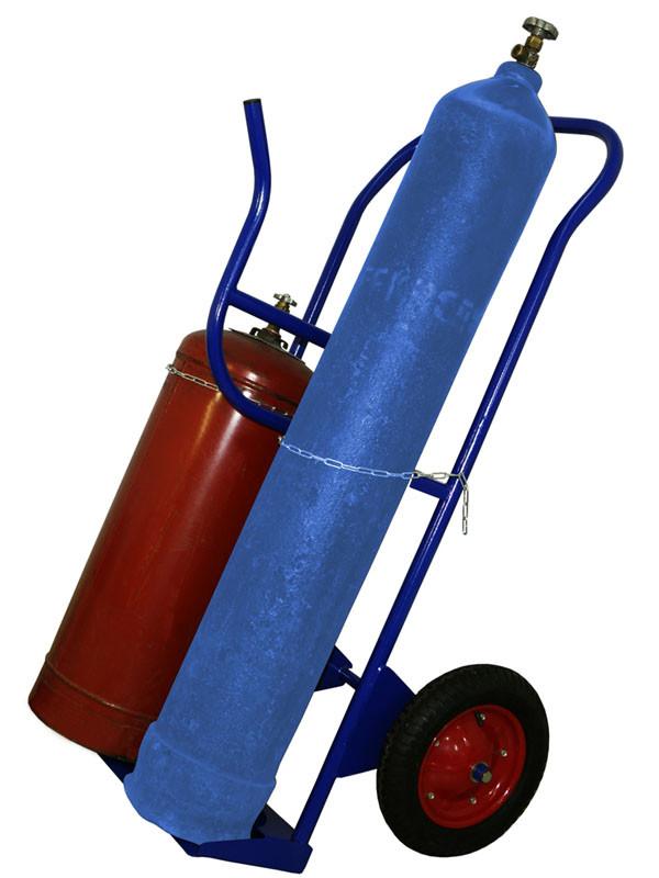 Тележка усиленная для 2 баллонов кислород + пропан и газ. шлангов, сварочный пост КП 2У (Арт. 2291-T)