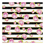Бумага для скрапбукинга «Черно‒белый», 20 × 20 см, 180 г/м, фото 2