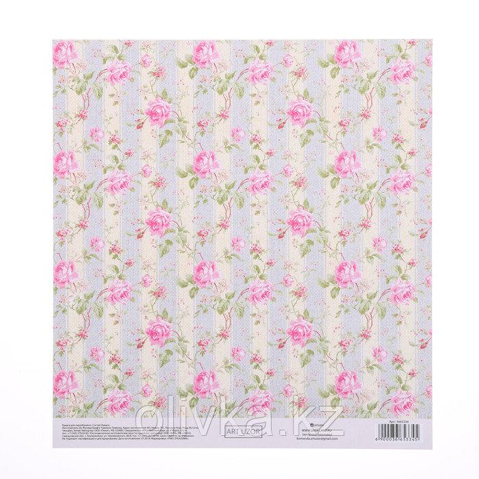 Бумага для скрапбукинга с клеевым слоем «Нежность», 20 × 21,5 см, 250 г/м