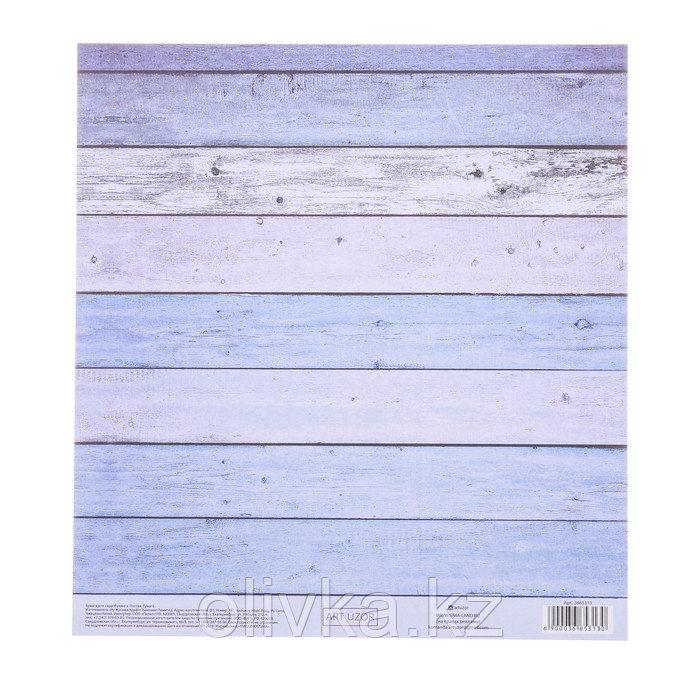Бумага для скрапбукинга с клеевым слоем «Доски», 20 × 21,5 см, 250 г/м