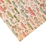 Бумага для скрапбукинга с клеевым слоем «Рэтро», 20 × 21,5 см, 250 г/м, фото 3