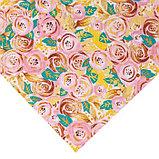 Бумага для скрапбукинга с клеевым слоем «Цветочный водоворот», 20 × 21,5 см, 250 г/м, фото 3