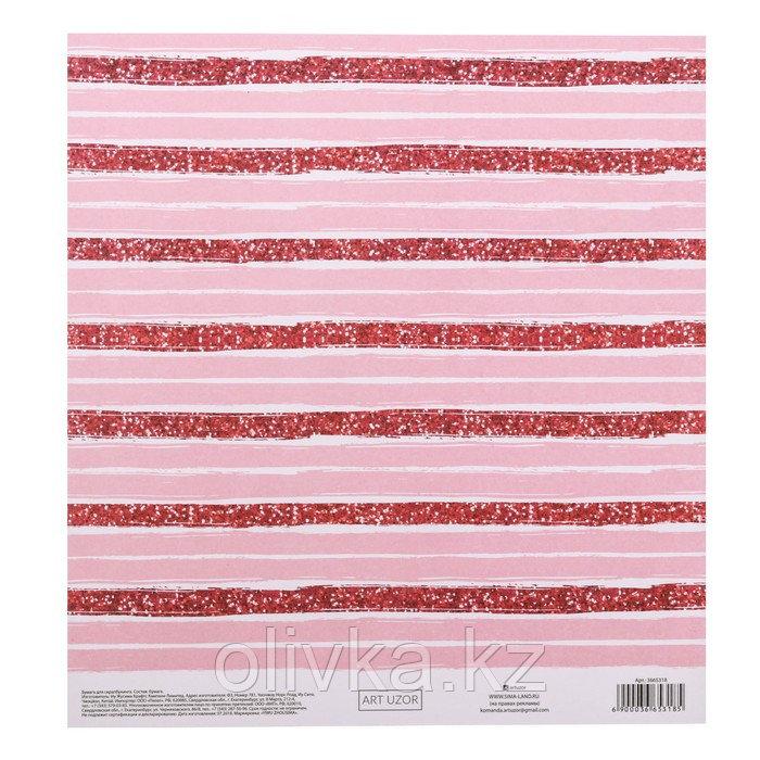 Бумага для скрапбукинга с клеевым слоем «Розовые мечты», 20 × 21,5 см, 250 г/м