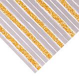 Бумага для скрапбукинга с клеевым слоем «Золотистые полосы», 20 × 21,5 см, 250 г/м, фото 3