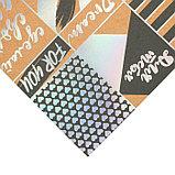 Бумага для скрапбукинга с голографическим фольгированием «Только для тебя», 20 × 21.5 см, 250 г/м, фото 2