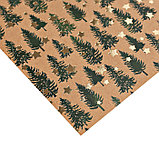 Бумага для скрапбукинга крафтовая с фольгированием «Сказочный лес», 20 × 20 см, 250 г/кв. м, фото 2