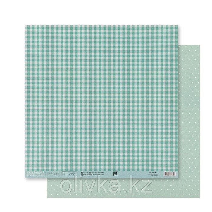 Бумага для скрапбукинга «Мятная базовая», 30.5 × 32 см, 180 гм