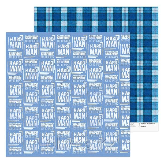 Бумага для скрапбукинга Hard men, 30.5 × 30.5 см, 180 г/м