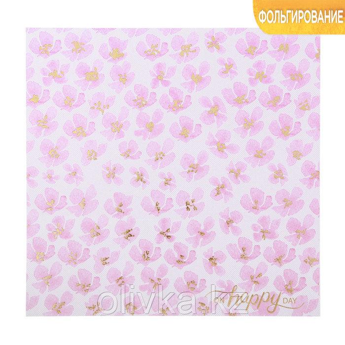 Бумага для скрапбукинга с фольгированием «Цветочная фантазия», 20 × 20 см, 250 г/м