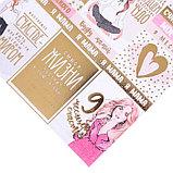 Бумага для скрапбукинга с фольгированием «Я‒Мама», 20 × 20 см, 250 г/м, фото 2