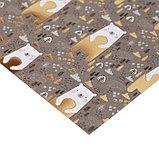 Бумага для скрапбукинга с фольгированием «Медвежата», 20 × 20 см, 250 г/м, фото 2