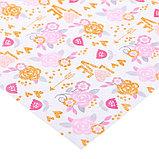 Бумага для скрапбукинга с блёстками «Цветочная полянка», 30,5 х 30,5 см, 180 г/м, фото 2