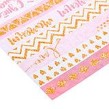 Бумага для скрапбукинга с блёстками «Алфавит», 30,5 х 30,5 см, 180 г/м, фото 2
